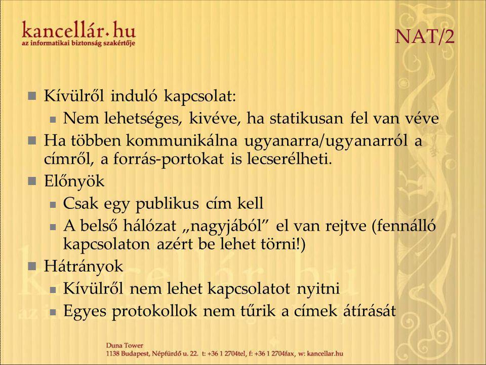 NAT/2 Kívülről induló kapcsolat: