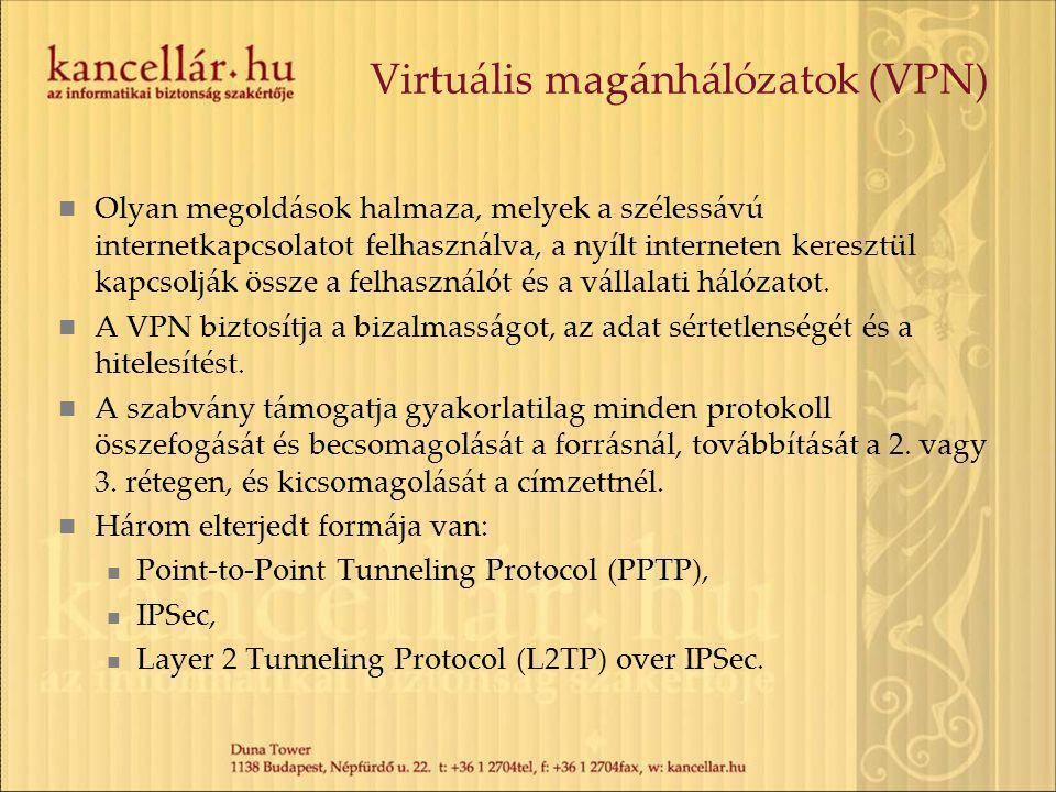 Virtuális magánhálózatok (VPN)