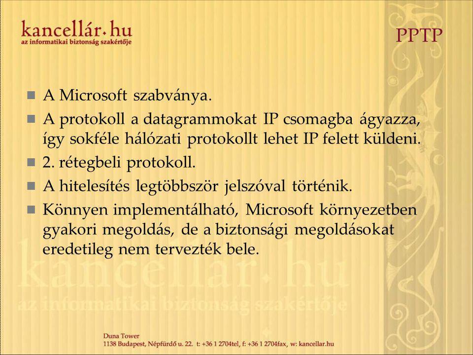 PPTP A Microsoft szabványa.