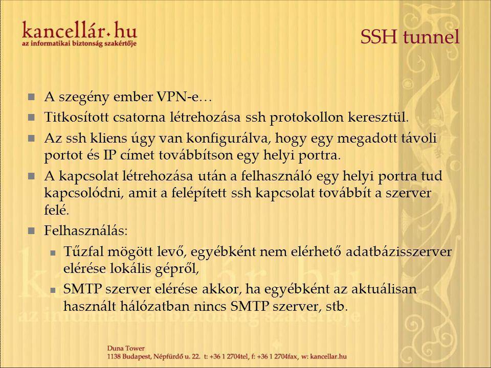 SSH tunnel A szegény ember VPN-e…