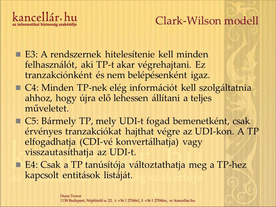 Clark-Wilson modell