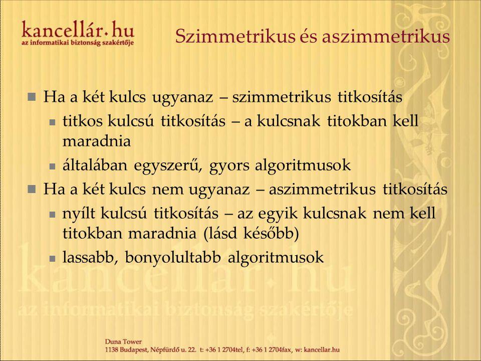 Szimmetrikus és aszimmetrikus