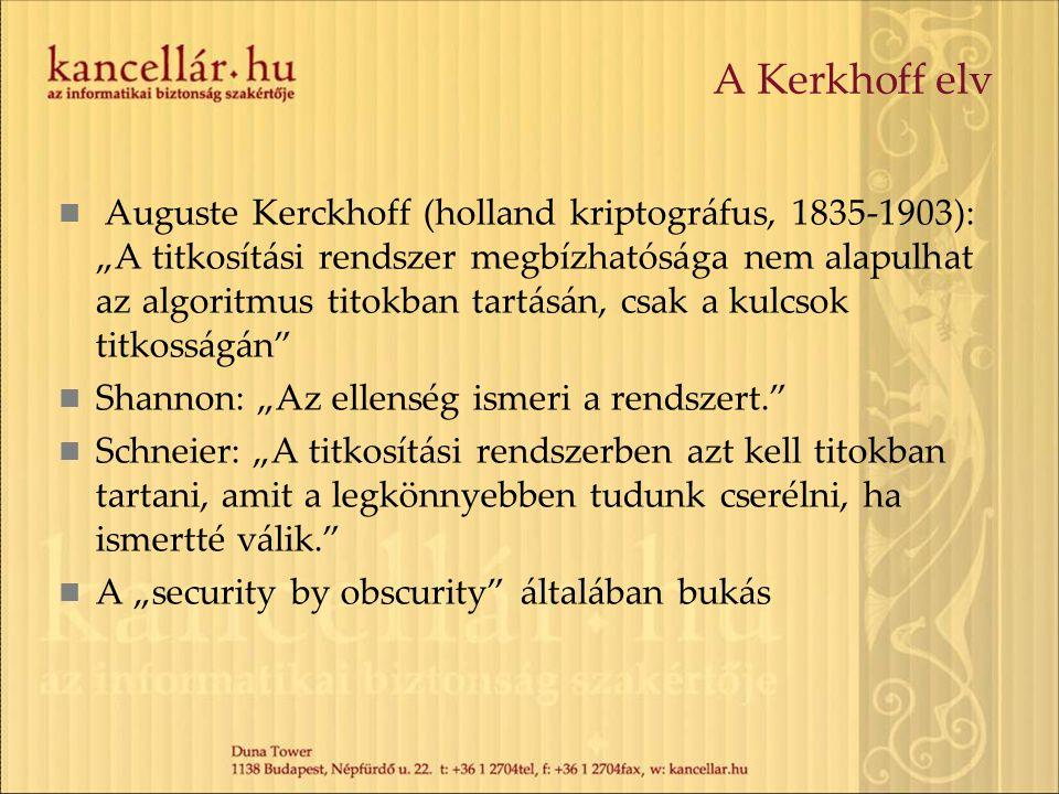 A Kerkhoff elv