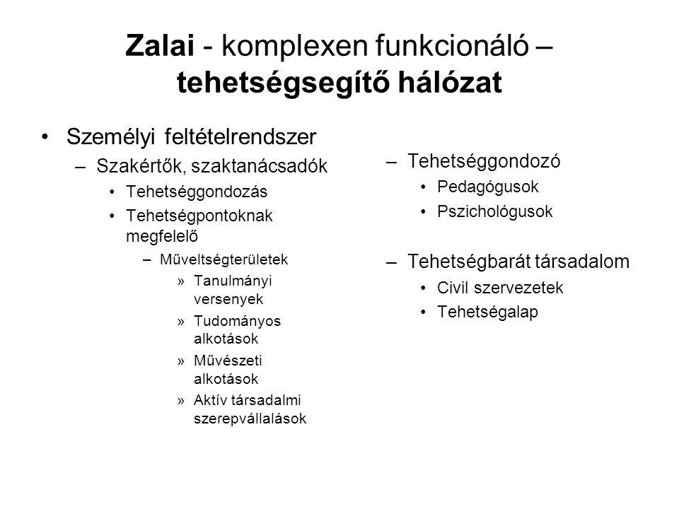 Zalai - komplexen funkcionáló – tehetségsegítő hálózat