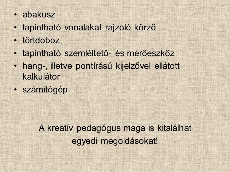 A kreatív pedagógus maga is kitalálhat