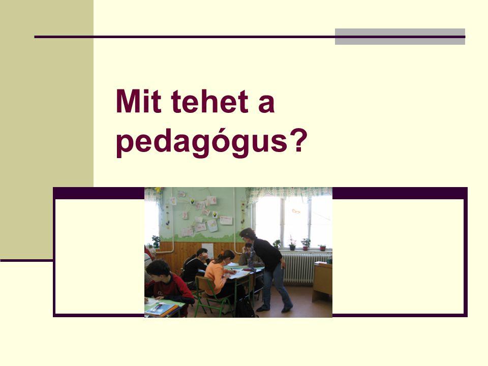 Mit tehet a pedagógus