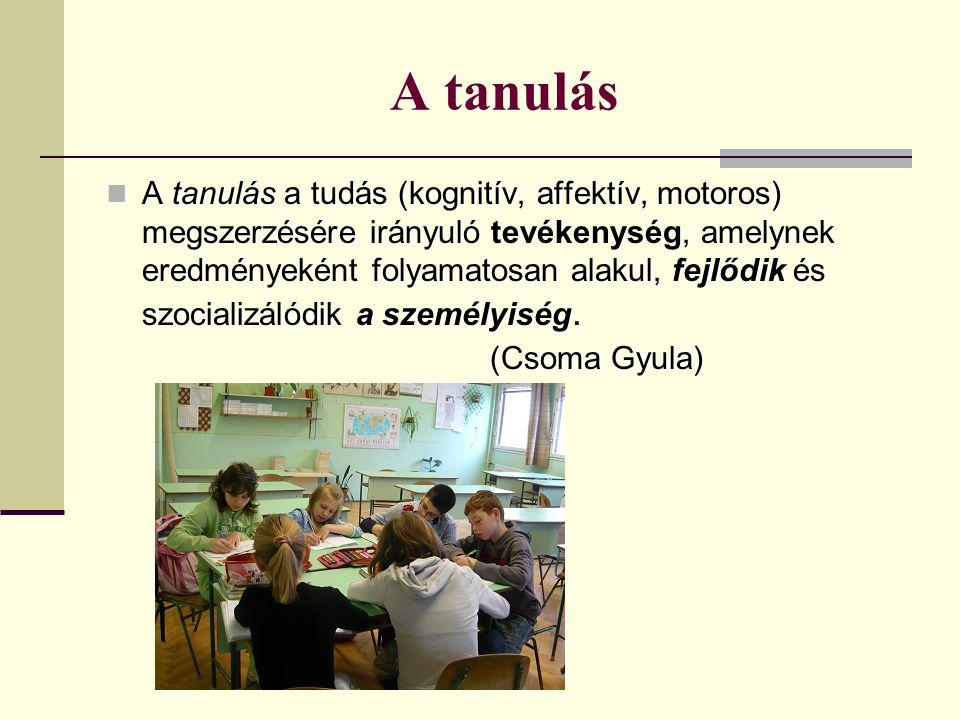 A tanulás