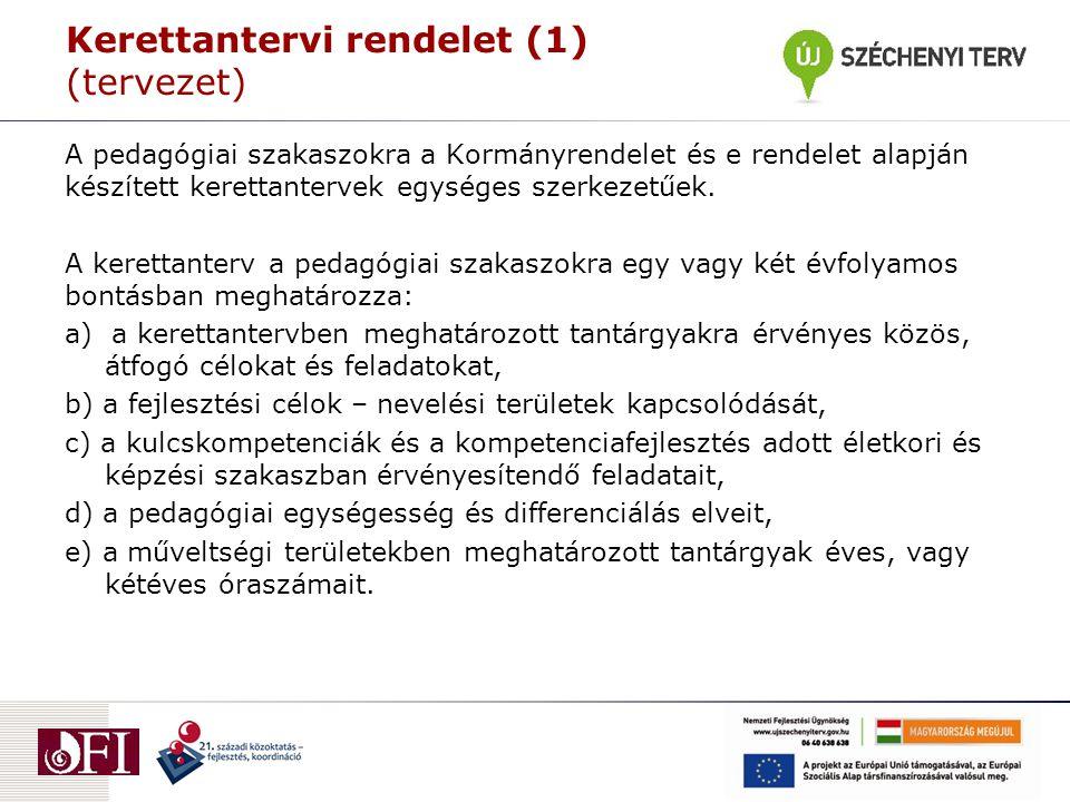 Kerettantervi rendelet (1) (tervezet)