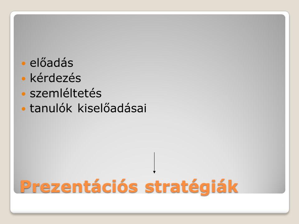 Prezentációs stratégiák