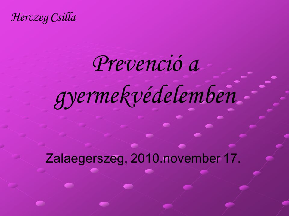 Prevenció a gyermekvédelemben