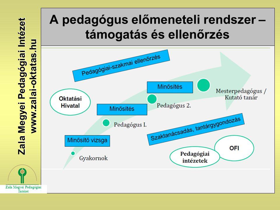 A pedagógus előmeneteli rendszer –támogatás és ellenőrzés