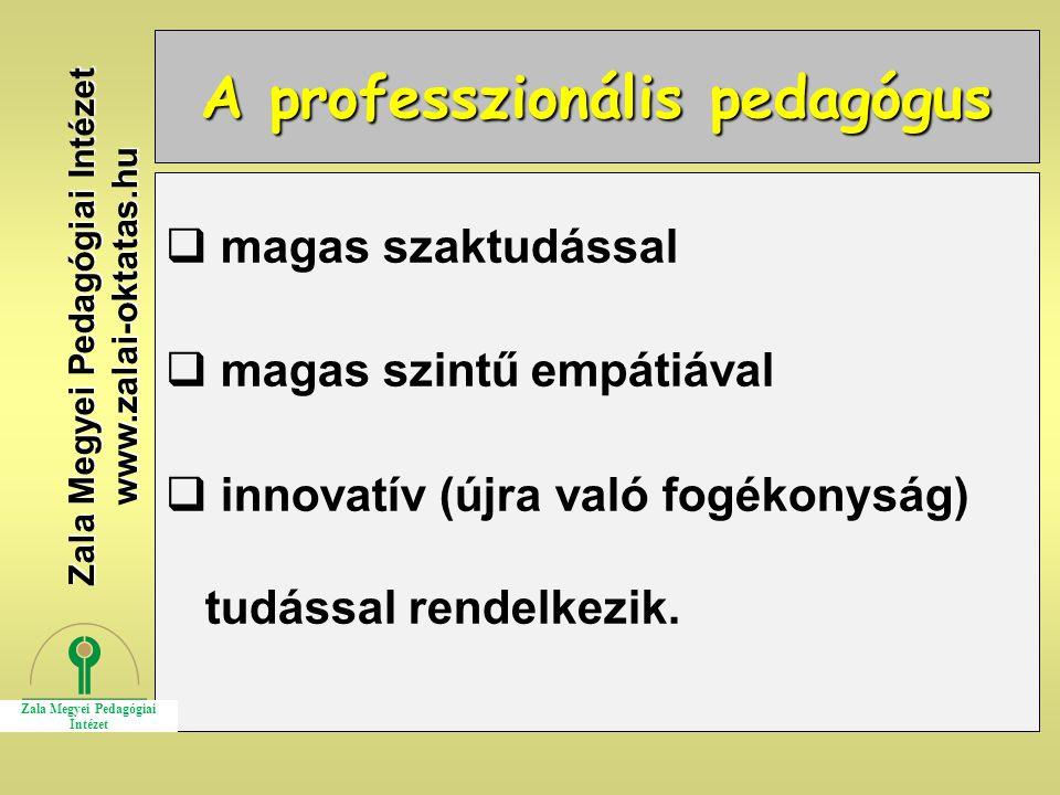 A professzionális pedagógus