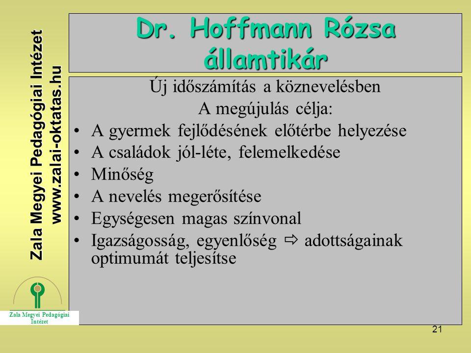 Dr. Hoffmann Rózsa államtikár