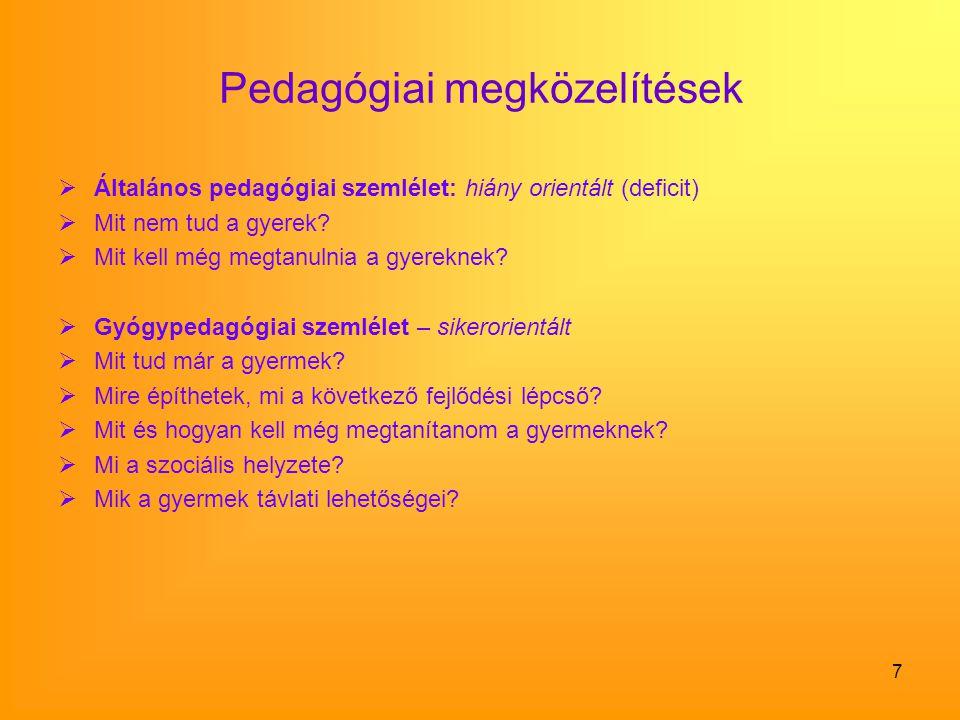 Pedagógiai megközelítések