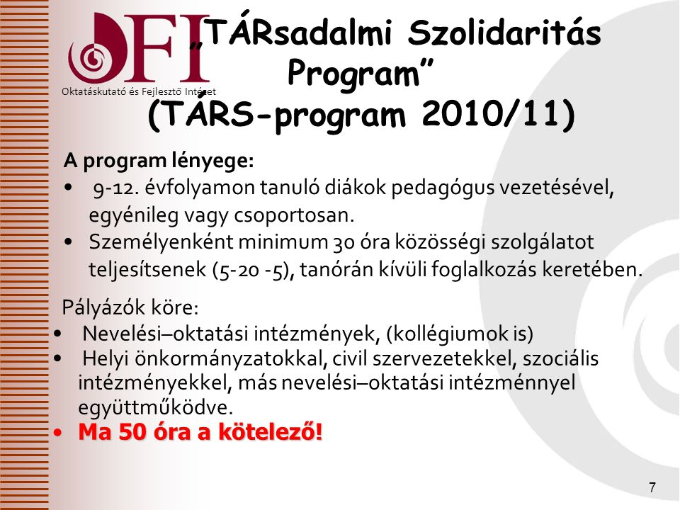 """""""TÁRsadalmi Szolidaritás Program"""