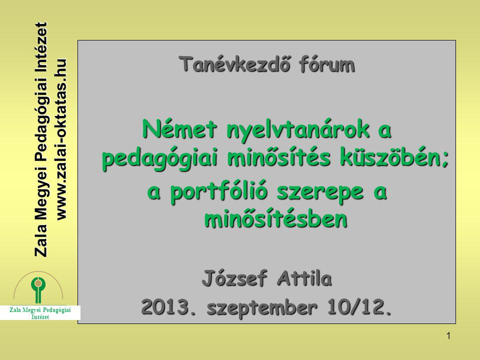 Német nyelvtanárok a pedagógiai minősítés küszöbén;
