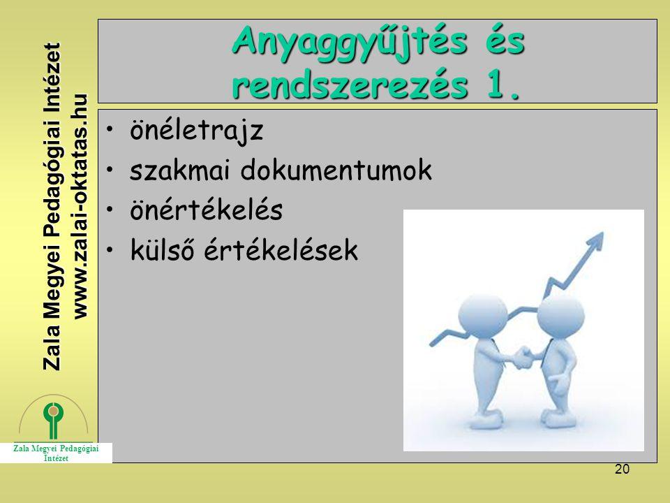 Anyaggyűjtés és rendszerezés 1.