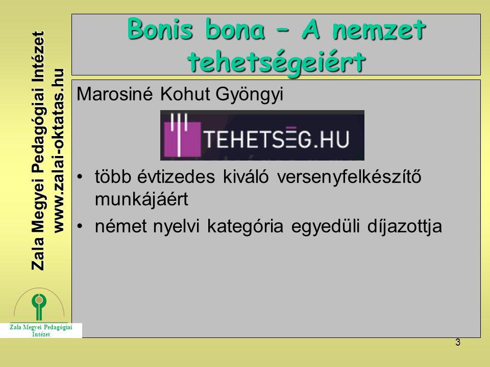 Bonis bona – A nemzet tehetségeiért