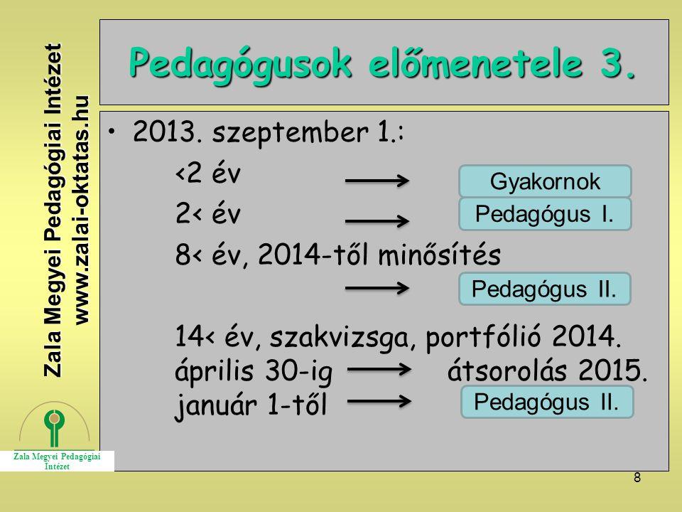 Pedagógusok előmenetele 3.