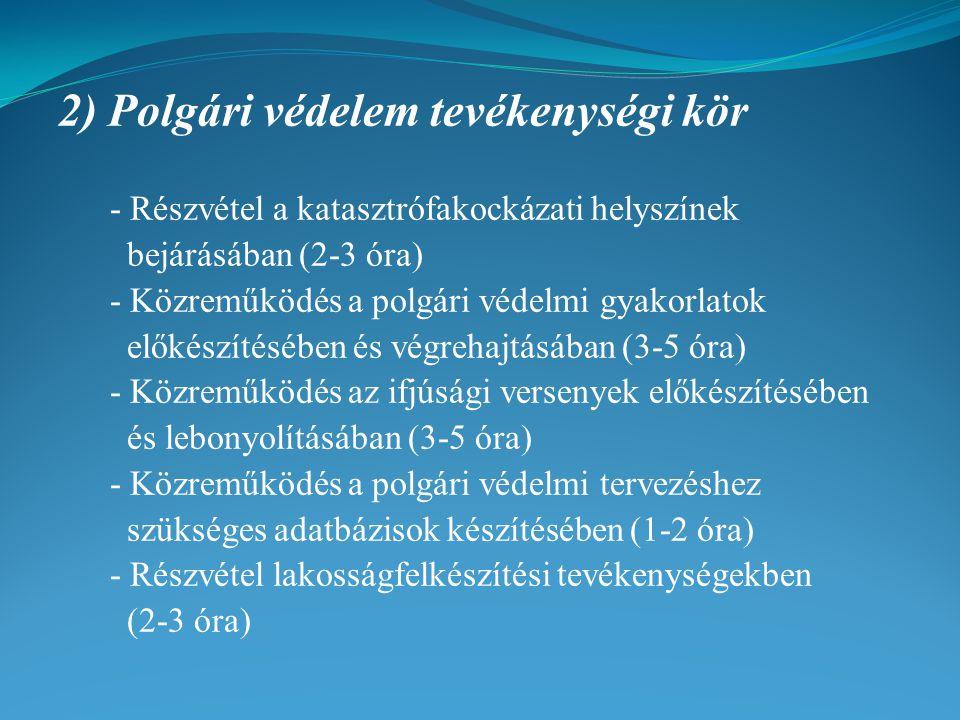 2) Polgári védelem tevékenységi kör