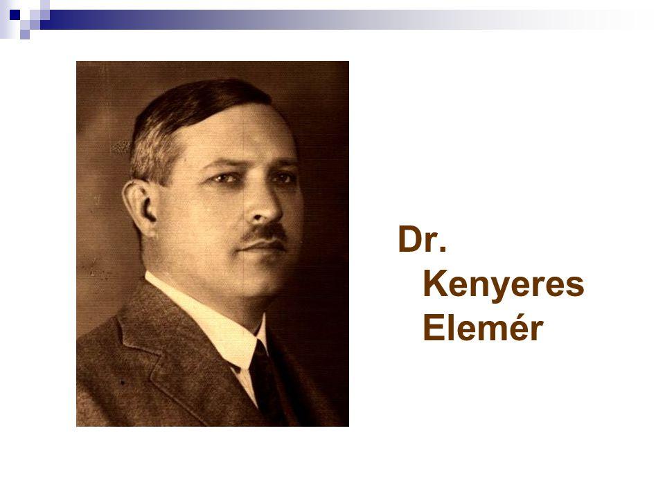 Dr. Kenyeres Elemér