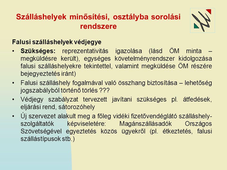 Szálláshelyek minősítési, osztályba sorolási rendszere