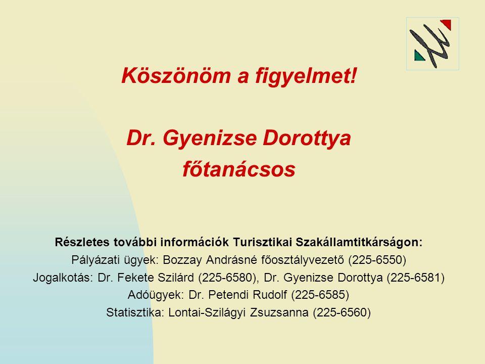 Részletes további információk Turisztikai Szakállamtitkárságon: