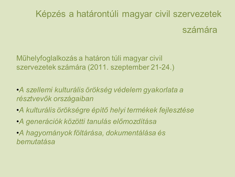 Képzés a határontúli magyar civil szervezetek számára