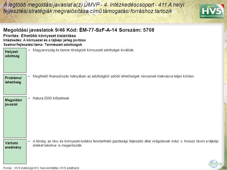 Megoldási javaslatok 9/46 Kód: ÉM-77-SzF-A-14 Sorszám: 5708