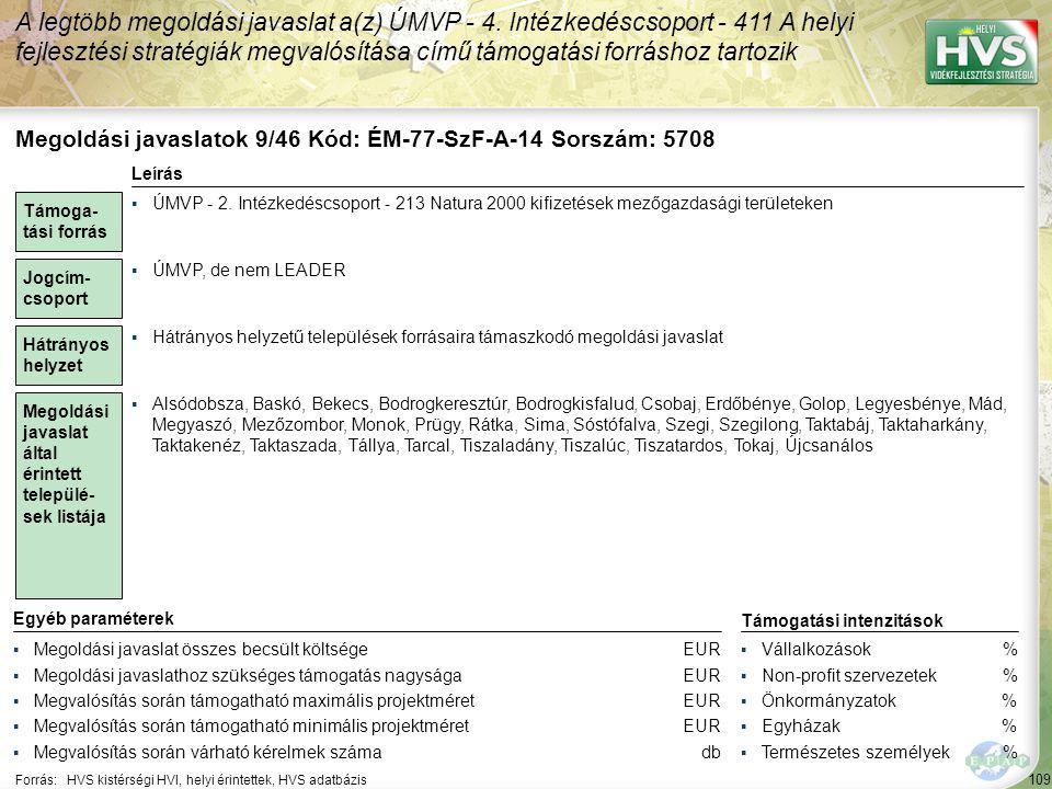 Megoldási javaslatok 10/46 Kód: ÉM-77-SzF-B-05 Sorszám: 5707