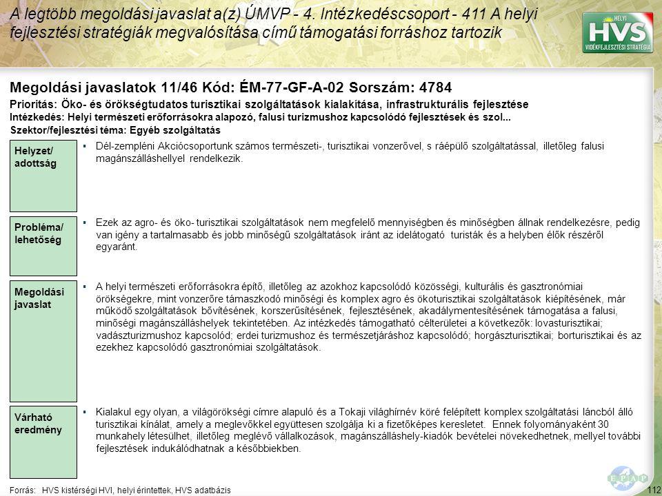 Megoldási javaslatok 11/46 Kód: ÉM-77-GF-A-02 Sorszám: 4784