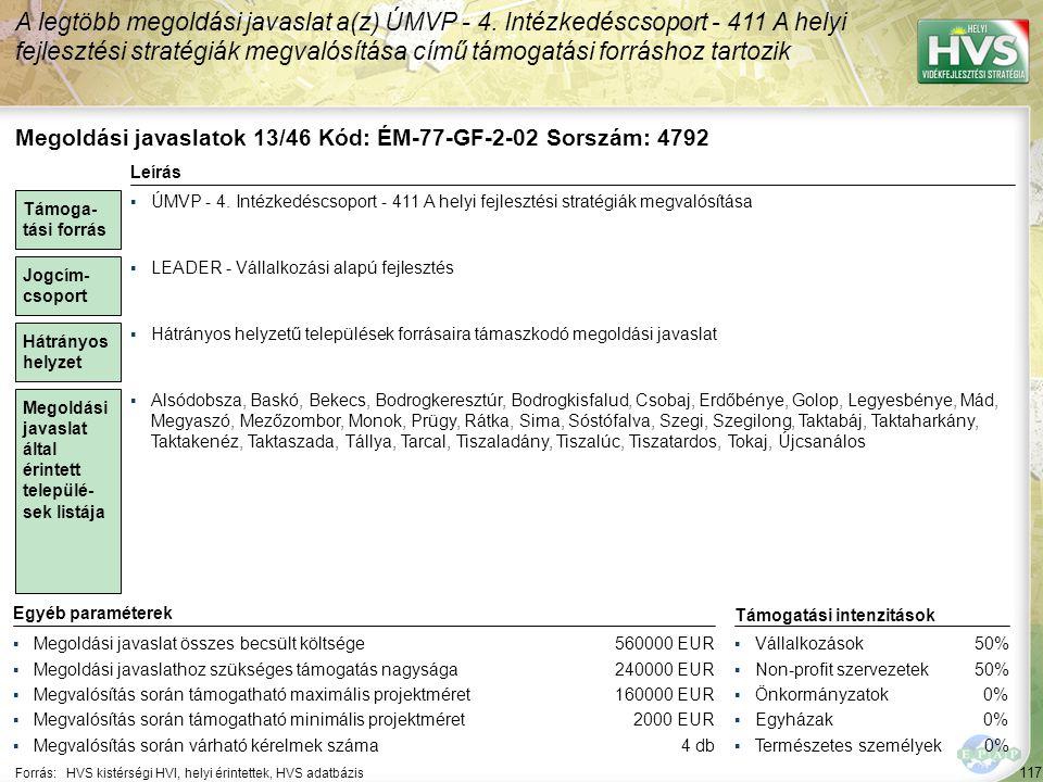 Megoldási javaslatok 14/46 Kód: ÉM-77-GF-7-02 Sorszám: 6503