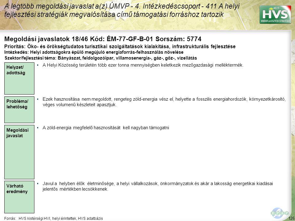 Megoldási javaslatok 18/46 Kód: ÉM-77-GF-B-01 Sorszám: 5774