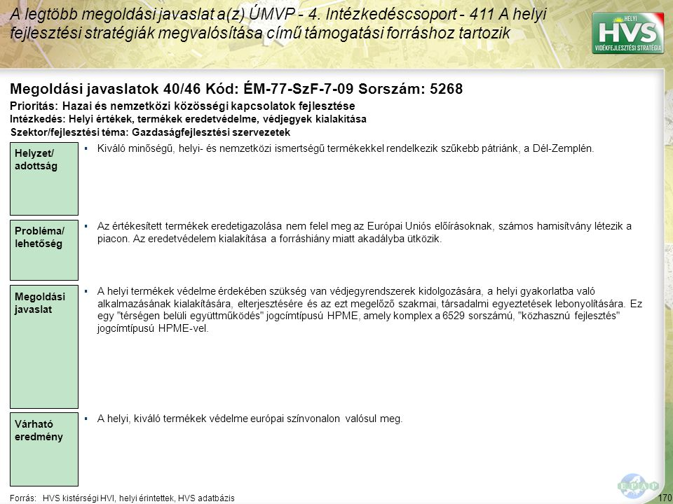 Megoldási javaslatok 40/46 Kód: ÉM-77-SzF-7-09 Sorszám: 5268