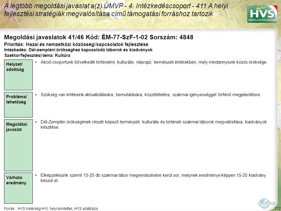 Megoldási javaslatok 41/46 Kód: ÉM-77-SzF-1-02 Sorszám: 4848