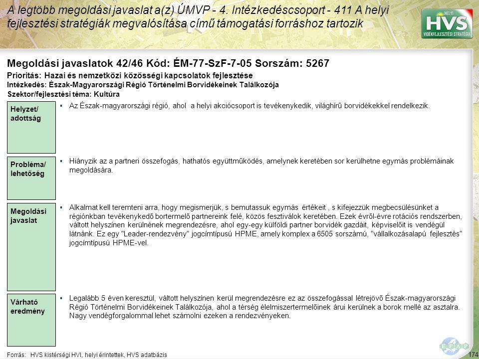 Megoldási javaslatok 42/46 Kód: ÉM-77-SzF-7-05 Sorszám: 5267