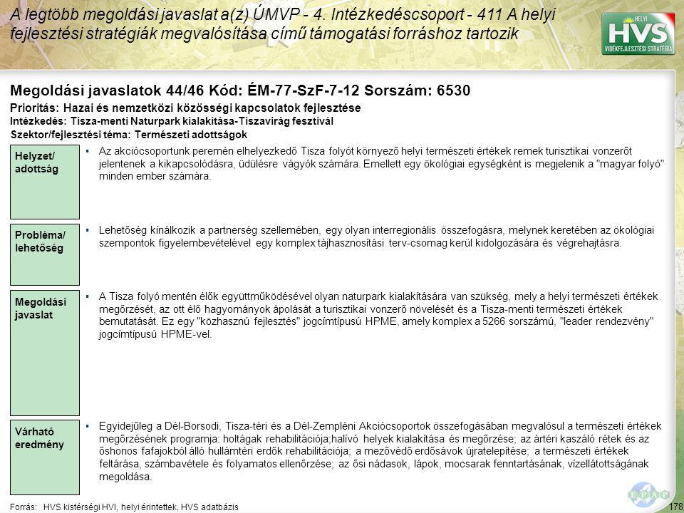 Megoldási javaslatok 44/46 Kód: ÉM-77-SzF-7-12 Sorszám: 6530