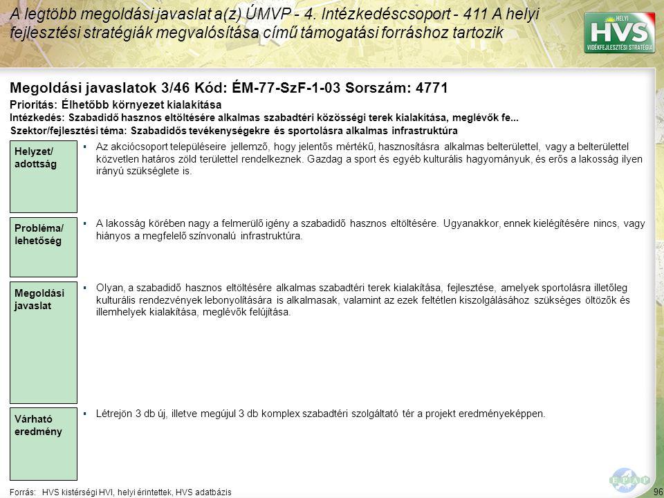 Megoldási javaslatok 3/46 Kód: ÉM-77-SzF-1-03 Sorszám: 4771