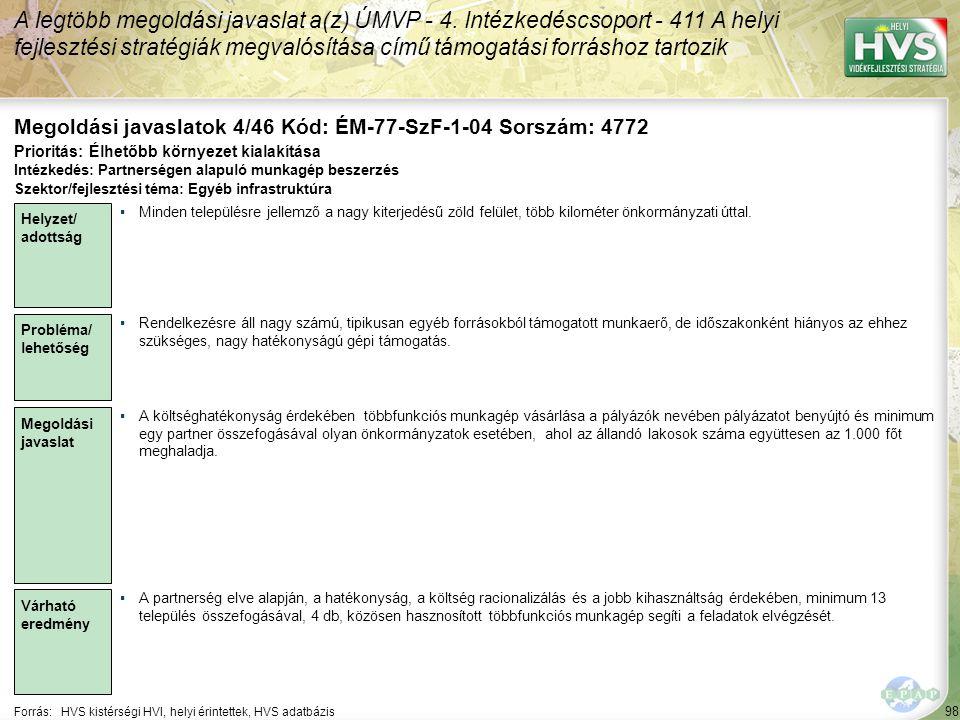 Megoldási javaslatok 4/46 Kód: ÉM-77-SzF-1-04 Sorszám: 4772