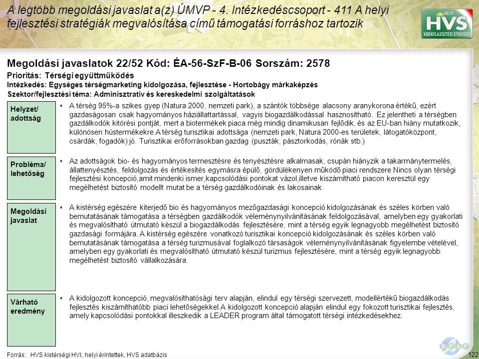 Megoldási javaslatok 22/52 Kód: ÉA-56-SzF-B-06 Sorszám: 2578