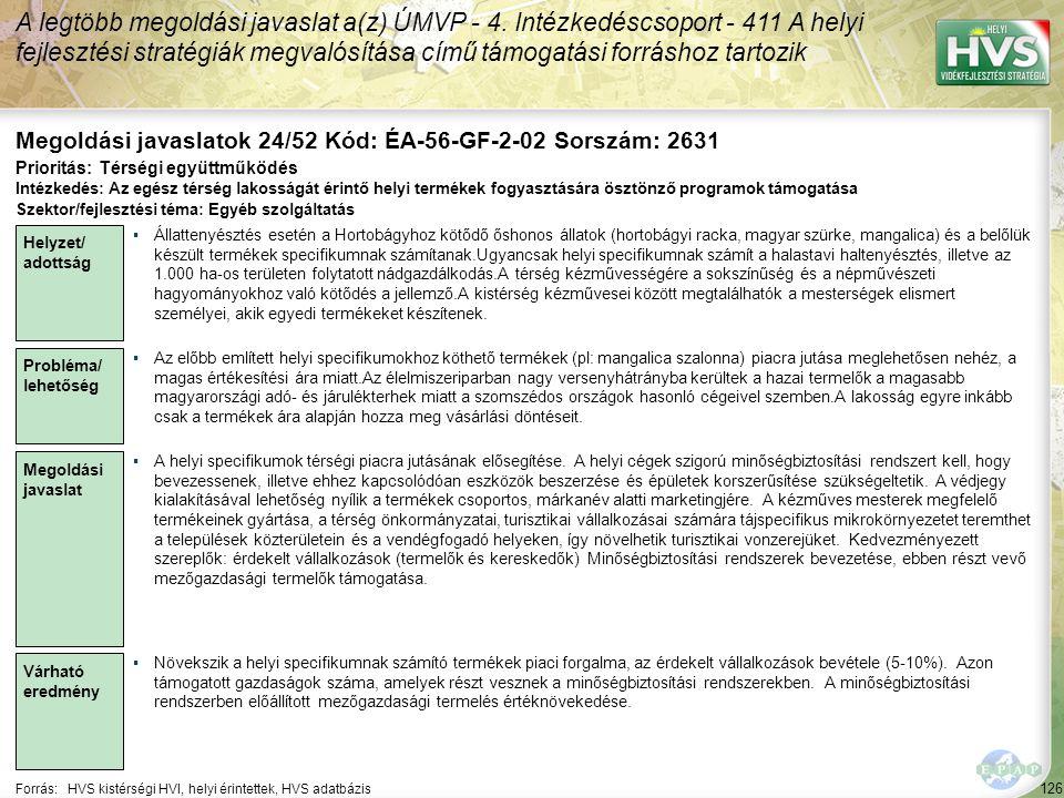 Megoldási javaslatok 24/52 Kód: ÉA-56-GF-2-02 Sorszám: 2631