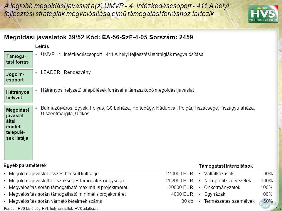 Megoldási javaslatok 40/52 Kód: ÉA-56-SzF-4-06 Sorszám: 2640