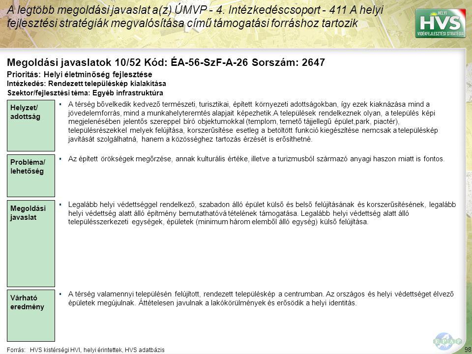 Megoldási javaslatok 10/52 Kód: ÉA-56-SzF-A-26 Sorszám: 2647