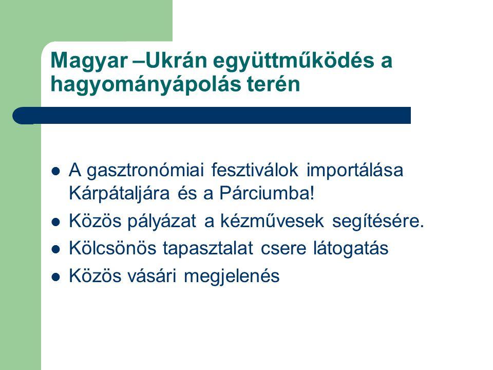 Magyar –Ukrán együttműködés a hagyományápolás terén