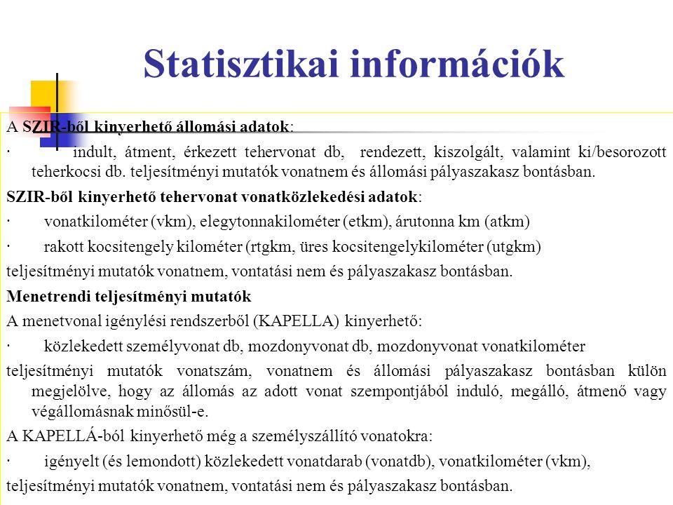 Statisztikai információk