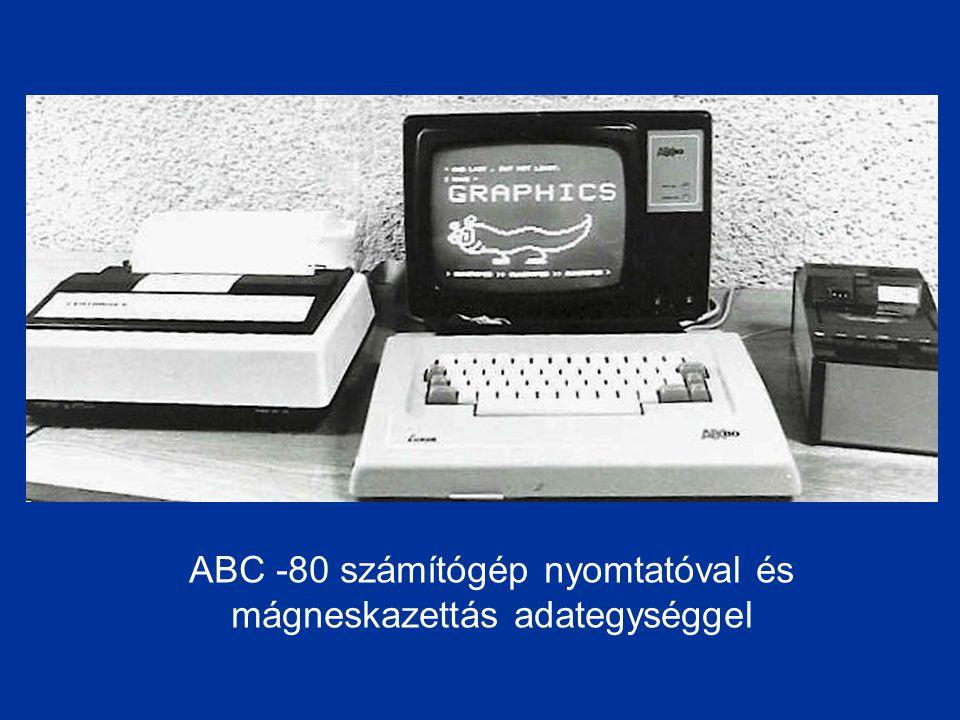 ABC -80 számítógép nyomtatóval és mágneskazettás adategységgel