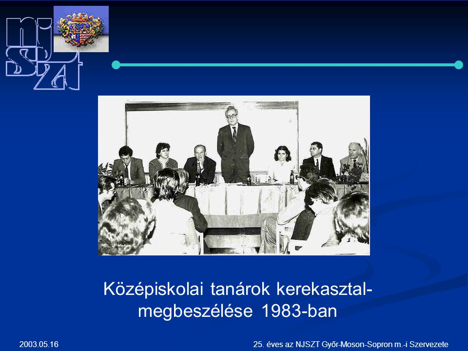 Középiskolai tanárok kerekasztal-megbeszélése 1983-ban