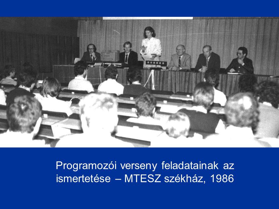Programozói verseny feladatainak az ismertetése – MTESZ székház, 1986