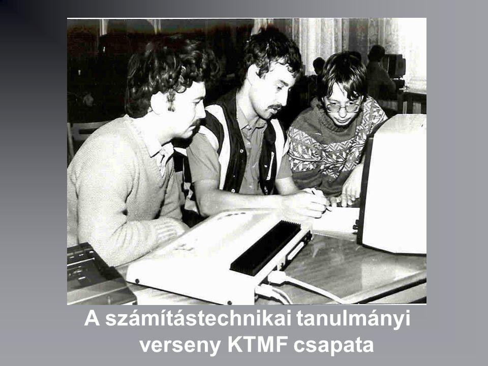 A számítástechnikai tanulmányi verseny KTMF csapata