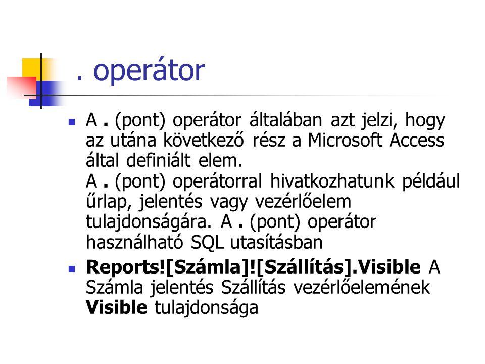 . operátor